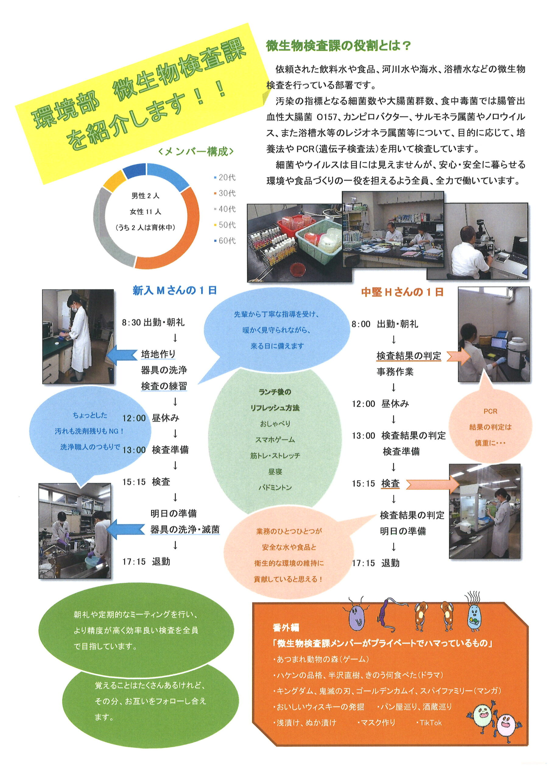 微生物検査課紹介